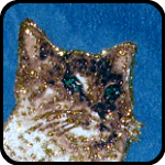 Glitter Cat Pillow Cover