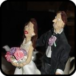 Handmade Cake Toppers That Look Nothing Like The Bride or Groom