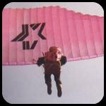 Pink Paraglider