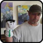 Man With Sock Puppet