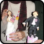 Maggie, James and Their Cake Toppers