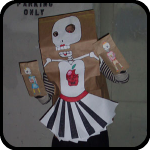 Single Parent Paper Bag Skeleton Puppet Costume